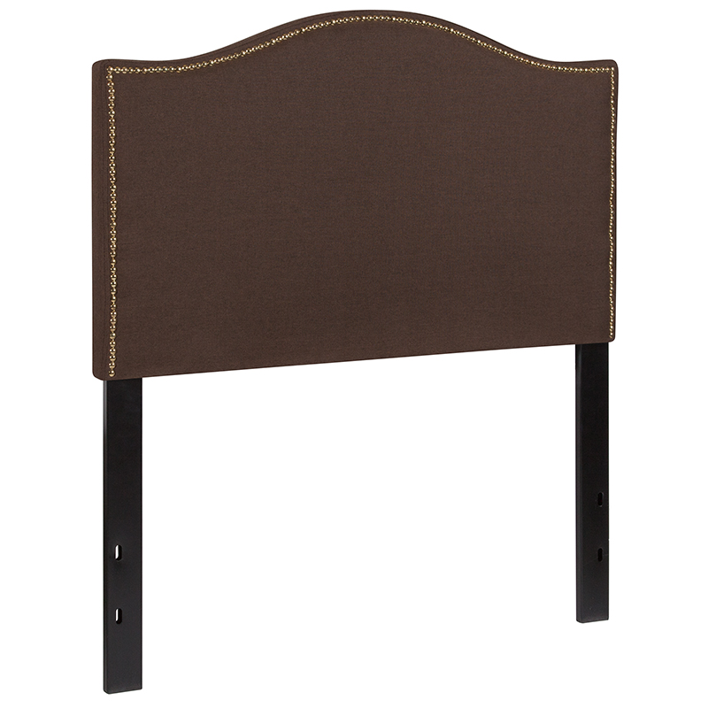 Arched Headboard with Accent Nail Trim