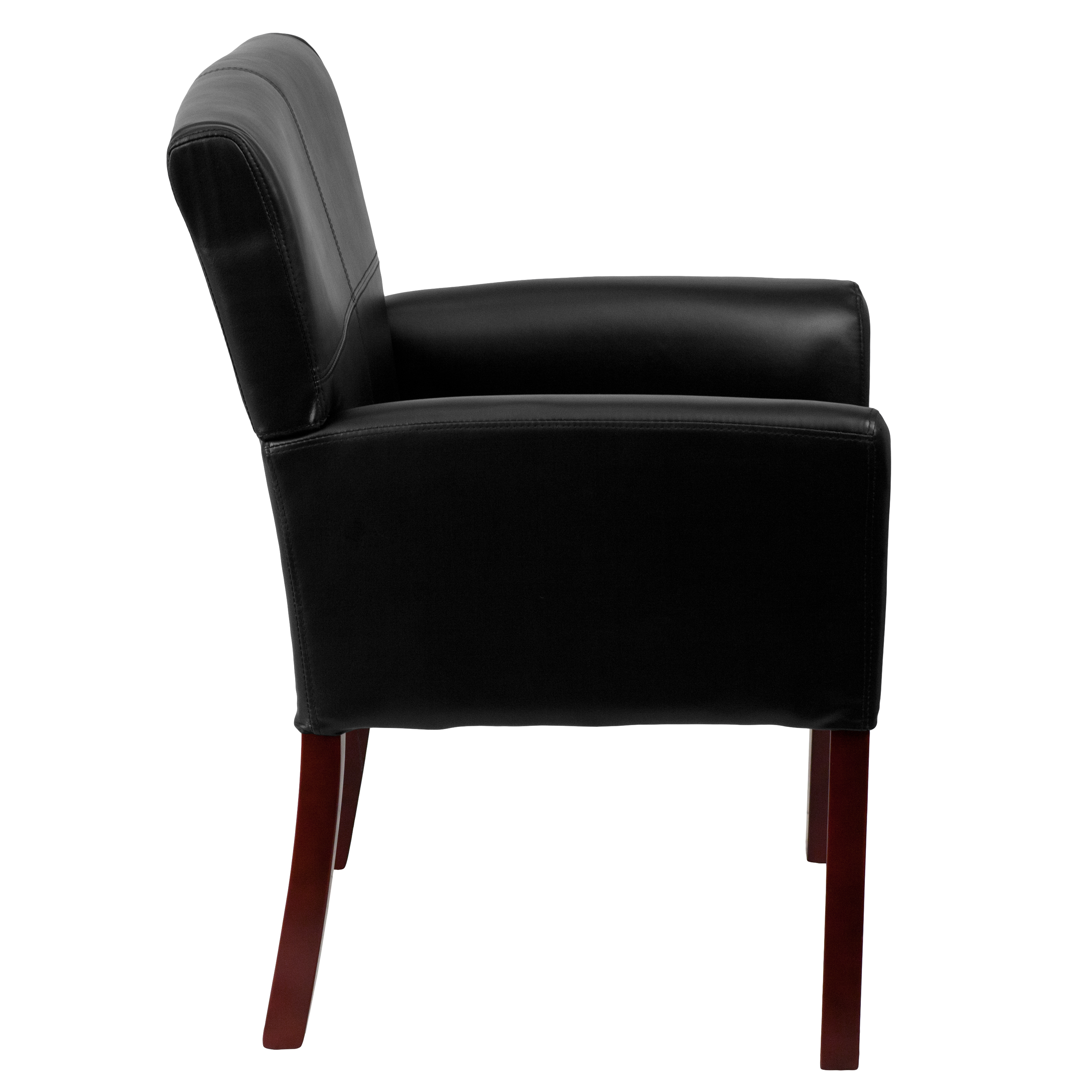 Cool Details About Leather Executive Side Reception Chair With Mahogany Legs Pdpeps Interior Chair Design Pdpepsorg