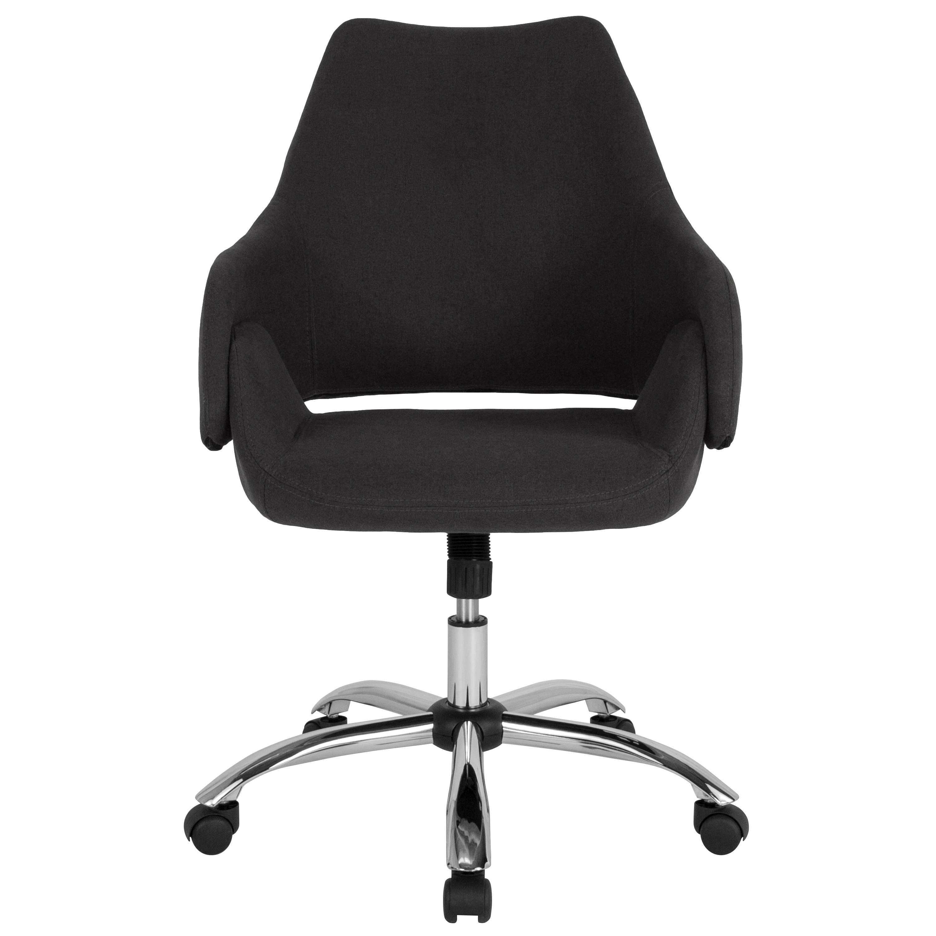 Home Office Mid-Back Office Chair With Wrap Style Arms