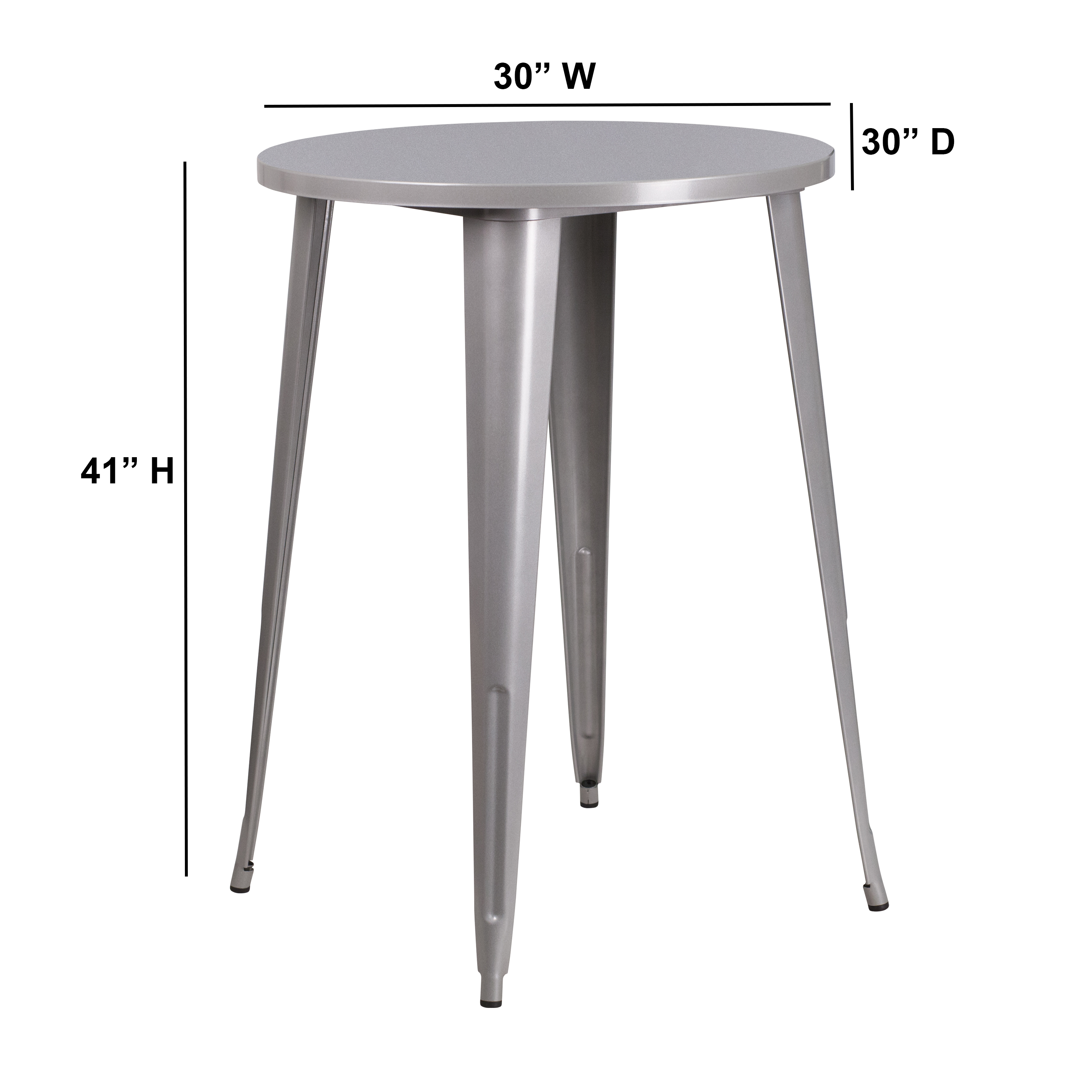 Astounding Details About 30 Round Colorful Metal Indoor Outdoor Bar Height Dining Table Home Interior And Landscaping Ologienasavecom