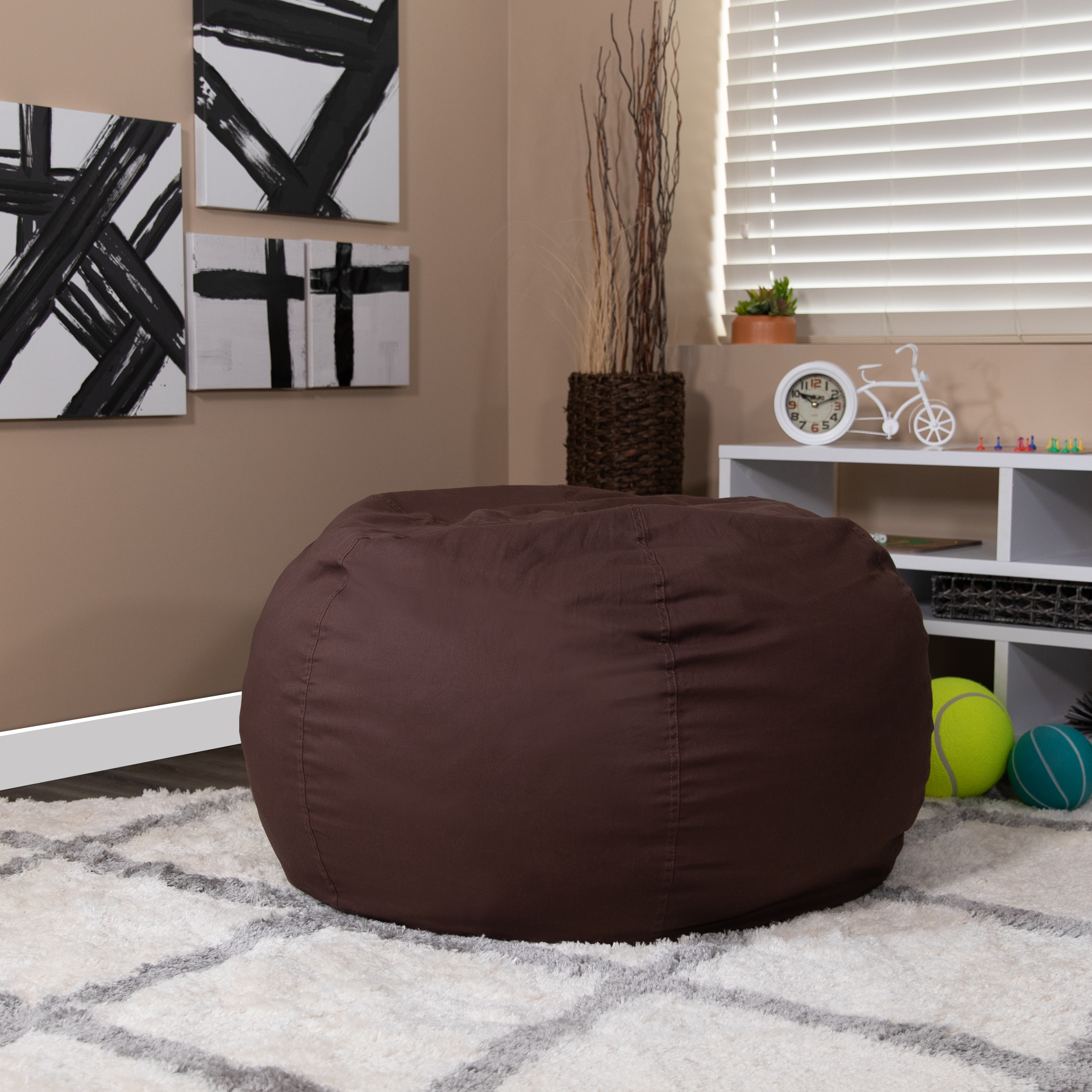 Awe Inspiring Oversized Bean Bag Chair For Kids And Adults Gmtry Best Dining Table And Chair Ideas Images Gmtryco