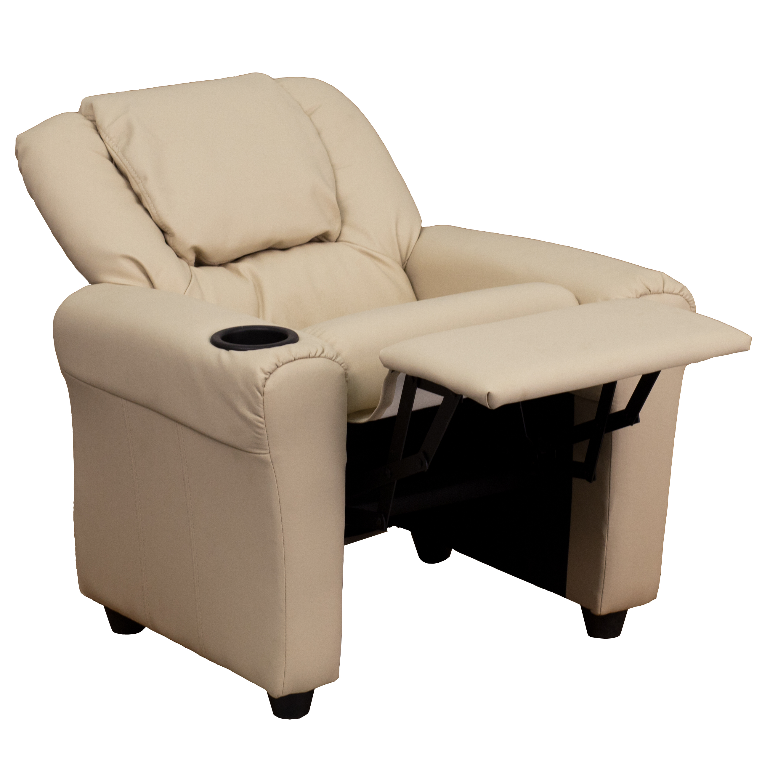 Contemporary Kids Recliner With Cup Holder And Headrest Ebay