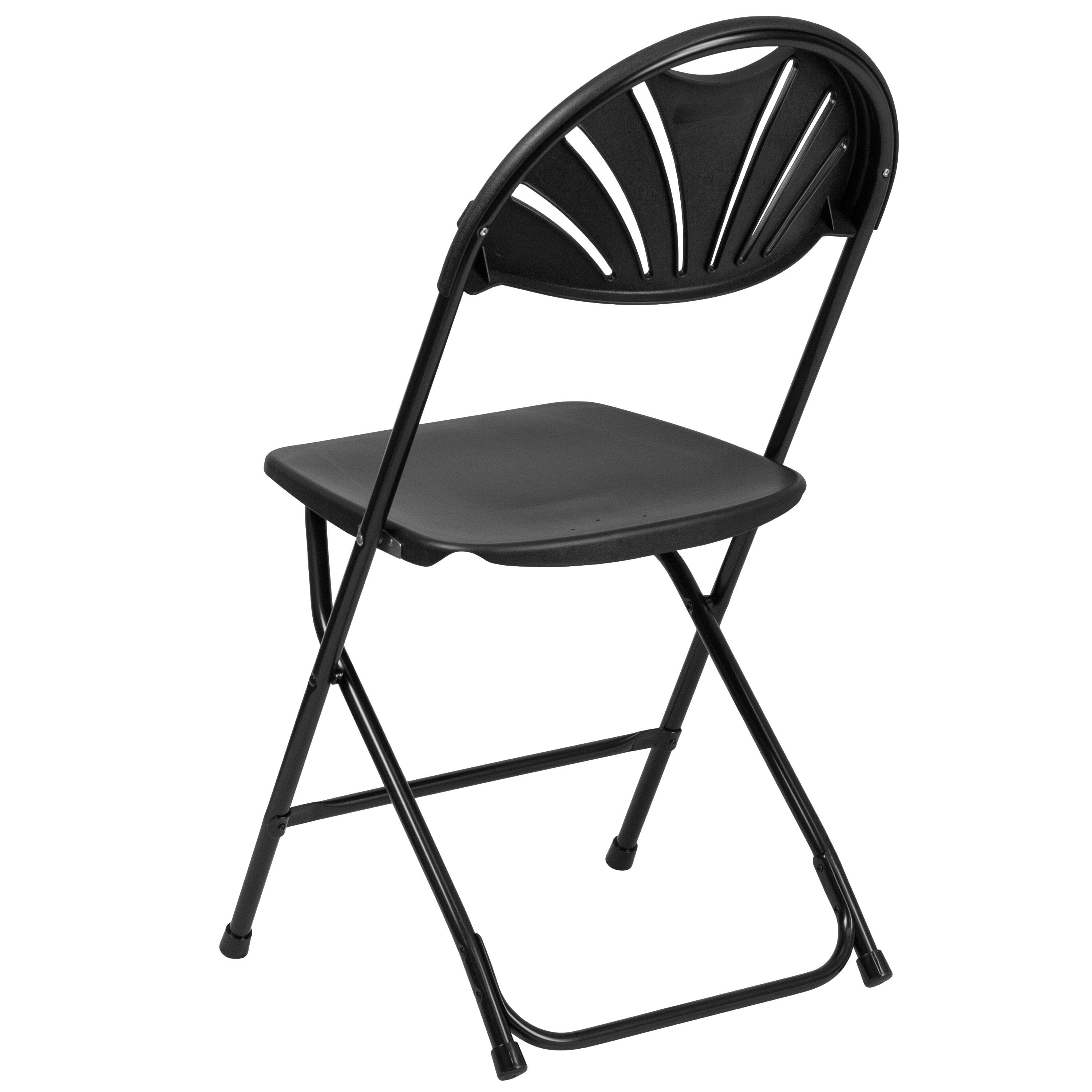 2 Pack Wedding Party Event Fan Back Plastic Folding Chair