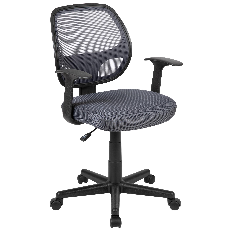 Mid-Back Mesh Swivel Ergonomic Task Office Chair - Arms, BIF