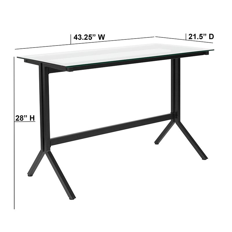 EMMA + OLIVER Computer Desk with Metal Frame | eBay