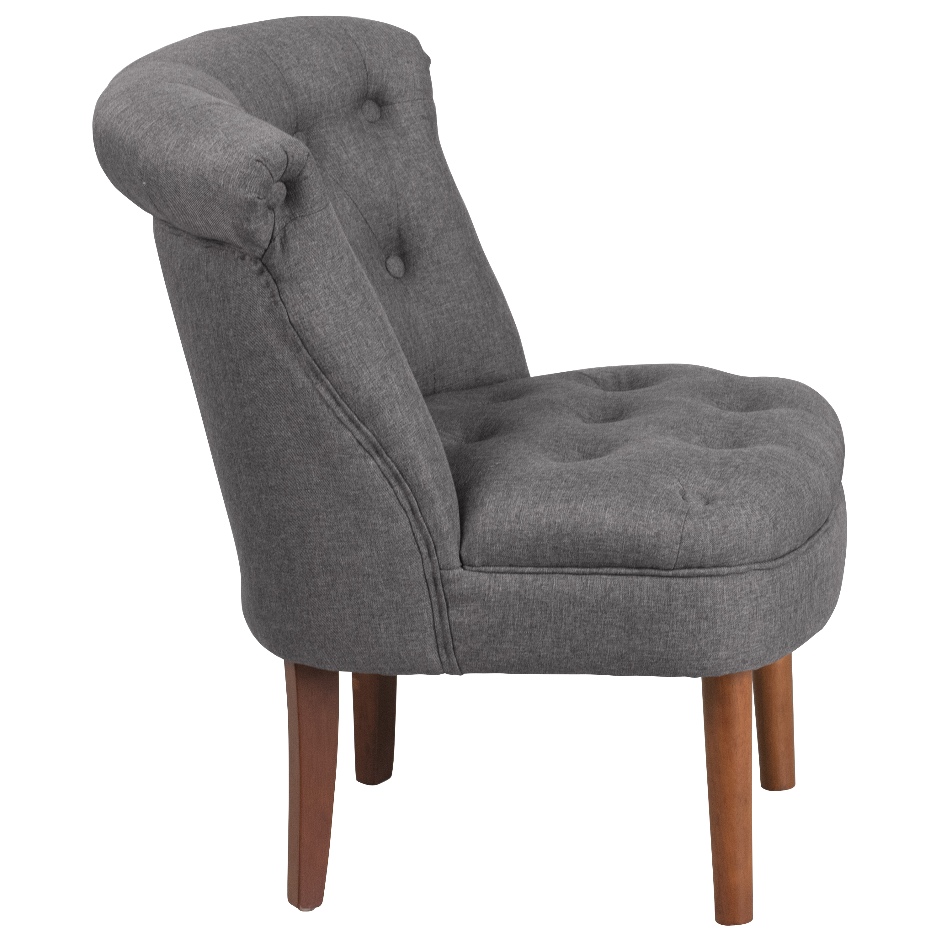 Ebay Accent Chairs: Rolled Back Tufted Accent Chair