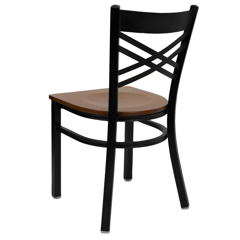 Black Quot X Quot Back Metal Restaurant Dining Chair Ebay